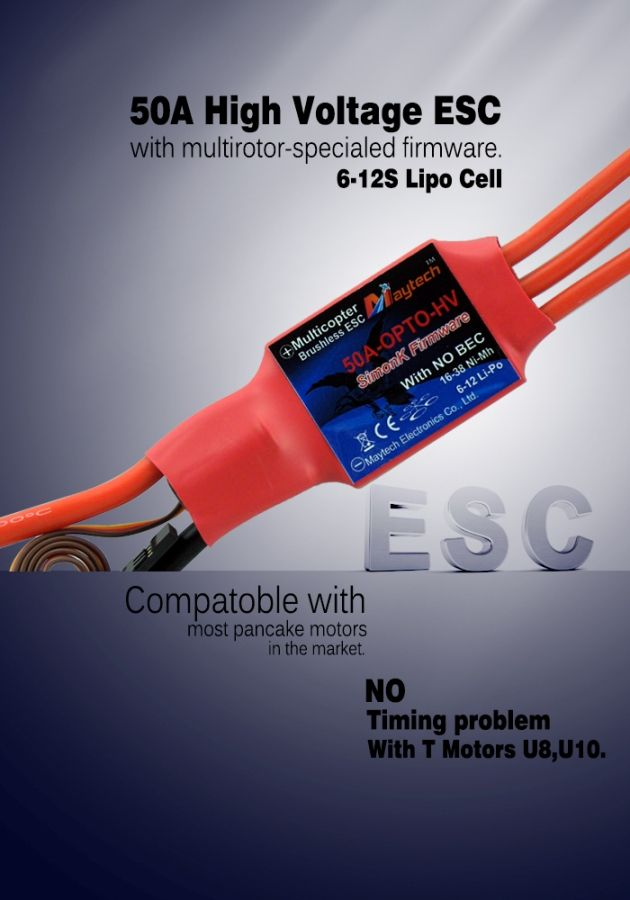 Maytech 50A High Voltage ESC. Perfect timing!!!