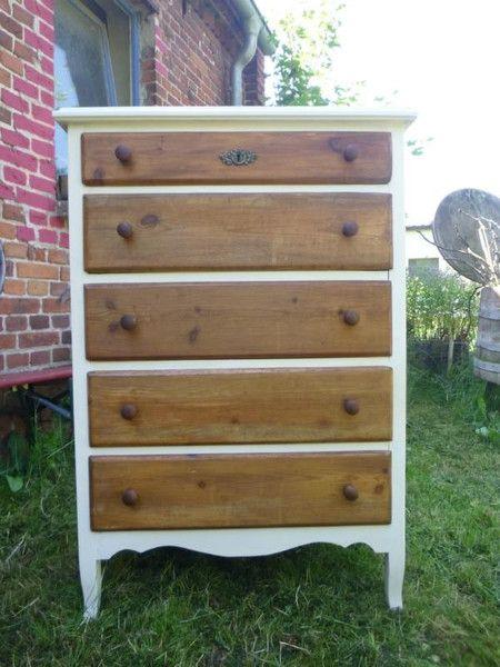 Kommoden - Kommode,Schubladenschrank,Holzschrank,Antiklook - ein Designerstück von gamle-ting bei DaWanda