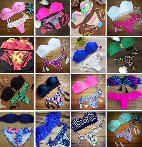 High Quality Womens Brazilian Low Waist Bikini Set Swimwear Swimsuit Swimwear Bathing Suit Maillot De Bain Biquini US $734.00 To Buy Or See Another Product Click On This Link  http://goo.gl/yekAoR