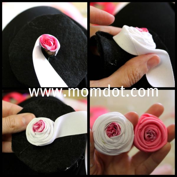 How to make a Ribbon Rosette (tutorial) including do it yourself for zipper rosette, silk ribbon rosettes, grosgrain flowers, and how to add to a hairclip, ideas