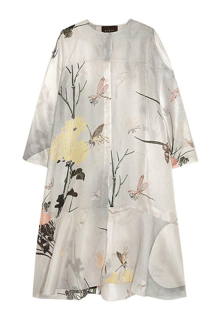 Aunne printed silk-organza dress by Biyan