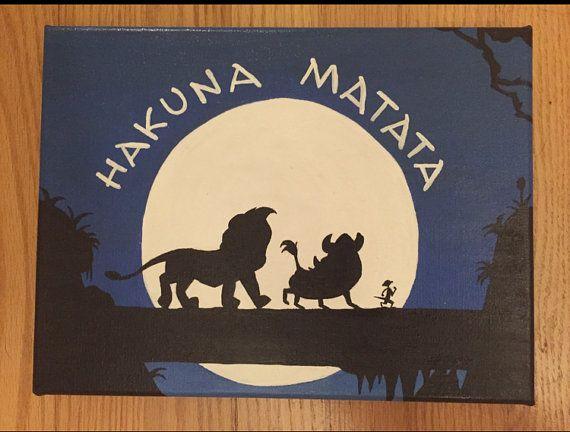 Disney's The Lion King Hakuna Matata Acrylic by DisneyCanvasQuotes