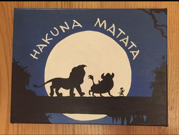 Disney's The Lion King Hakuna Matata Acrylic by DisneyCanvasQuotes