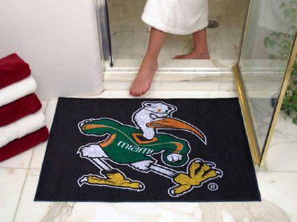 34in x 45in Miami Hurricanes All Star Floor Mat