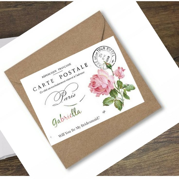 Will You Be My Bridesmaid Cards. Vintage Look..