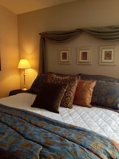 curtain headboards - Google Search