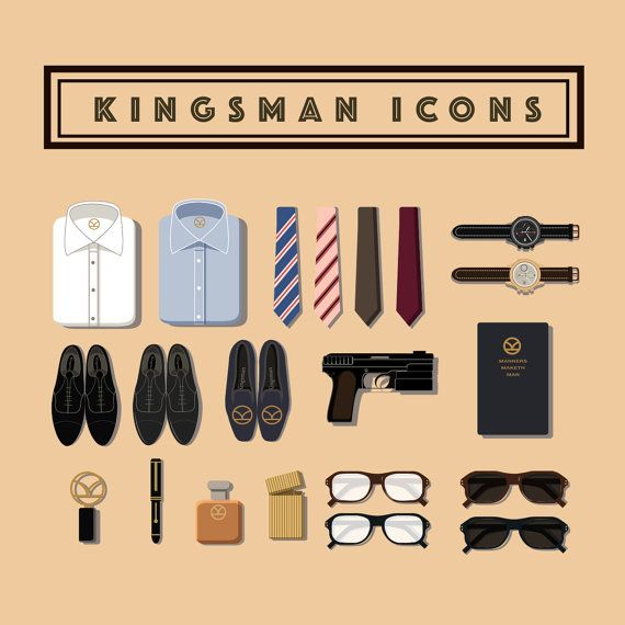 Hey, I found this really awesome Etsy listing at https://www.etsy.com/listing/225201404/kingsman-collection-flat-icons-set-for