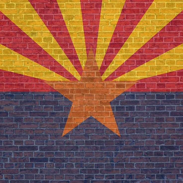 We have added this rustic brick flag design! This can also be customized to your state!  Want your state in this design? Message us  Custom state flag | Flag art | Arizona flag | Create Arizona Flag | Arizona Decals | Wall Decals