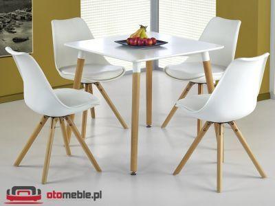 Biały kwadratowy stół - H078