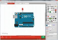 Simulador Arduino. Fritzing es el programa por excelencia para la realización de esquemas eléctricos en proyectos con Arduino. Es software open source. Dispone bibliotecas con la mayoría de componentes ( incluido por…