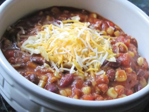 Easy Slow Cooker Mexican Chorizo Chili from Food.com: I modified a bean soup recipe and came up with this wonderful chili. I make it mild, as that's how my family likes it, then I just add Tabasco sauce to mine. A fun alternative to traditional chili!