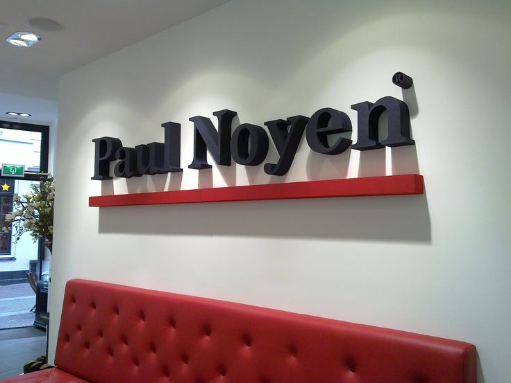 Piepschuim letters Paul Noyen