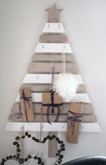 Lyst på dryssfritt juletre i år? Denne søte adventskalenderen formet som et tre er fra Kremmerhuset, men for en som er handybør det være mulig å lage maken.Treet kan også brukes til å henge julep…