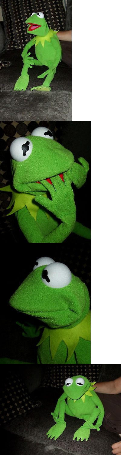 Muppets Sesame Street 2627: Jim Henson Profesional Kermit The Frog Full Hand Puppet 28 With Bendy Fingers -> BUY IT NOW ONLY: $330 on eBay!
