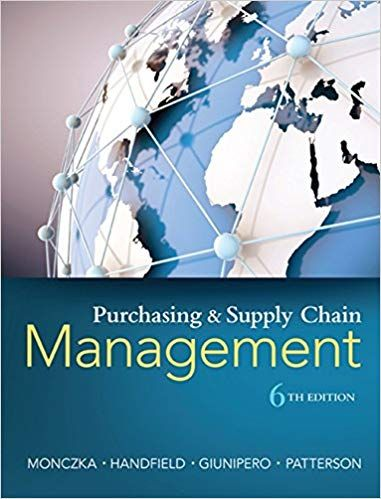 Purchasing And Supply Chain Management 6th Edition PDF
