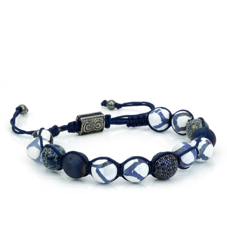 MYKONOS | Mens Shamballa Bracelet, Handcrafted, 925 Sterling Silver, Mens Bracelet, Mens Jewelry, Gift for Men, Anniversary Gift,Adjustable