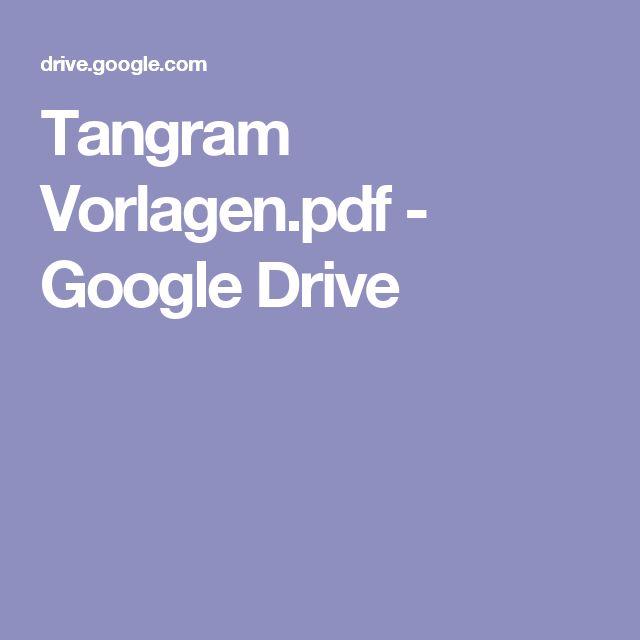 tangram vorlagenpdf  google drive