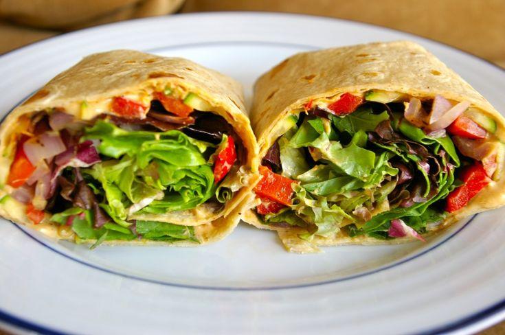 Hummus & Grilled Veggie Wrap