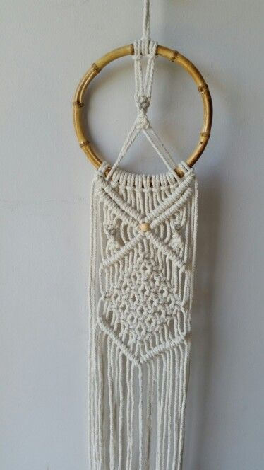 Macrame. Cotton.  Bamboo