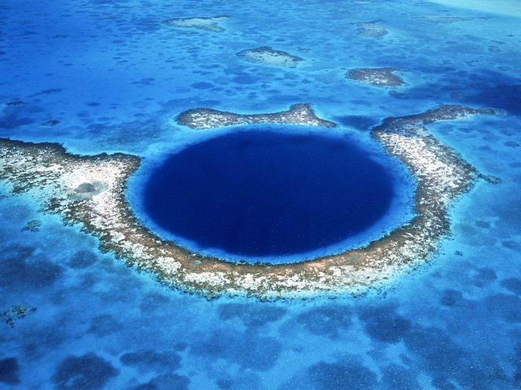 The Great Blue Hole, Belize. Part of the World Hertitage Site Belize Barrier Reef Reserve System  since 1996.