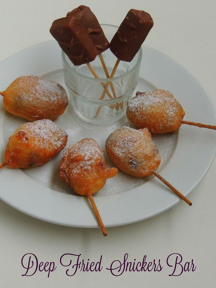 Deep Fried Mini Snickers Bars