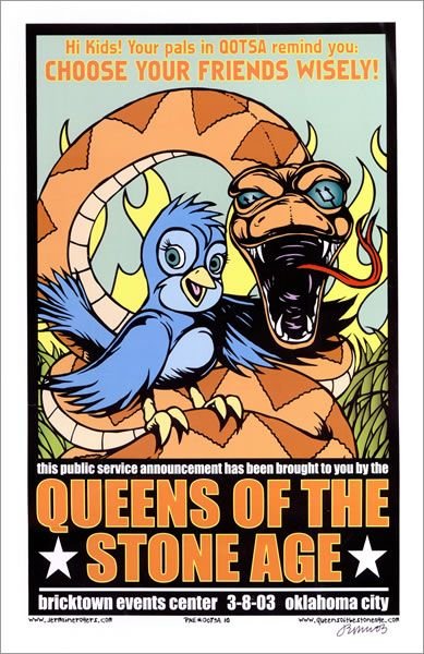 Queens Of The Stone Age Tour Poster - Oklahoma City