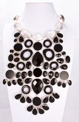 Quartz & Onyx Necklace set in sterling silver