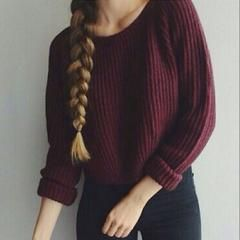 Awesome Red CropTop Sweater , Fun & Cute Sweaters, All Sizes - M-L
