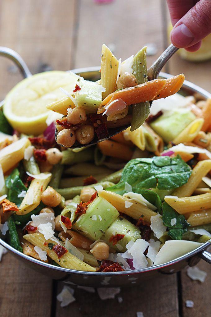 Greek Pasta Salad   lecremedelacrumb.com   #salad #recipe #pasta # ...