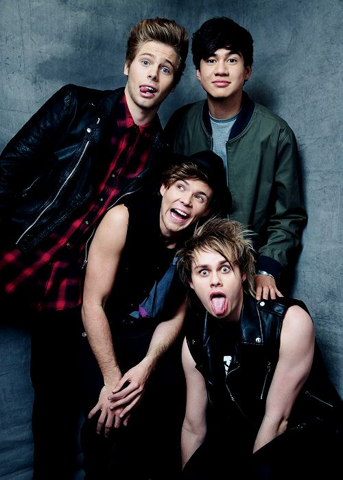 5 Seconds of Summer photographed by Austin Hargrave at the MGM Grand Garden Arena in Las Vegas - May 18th, 2014