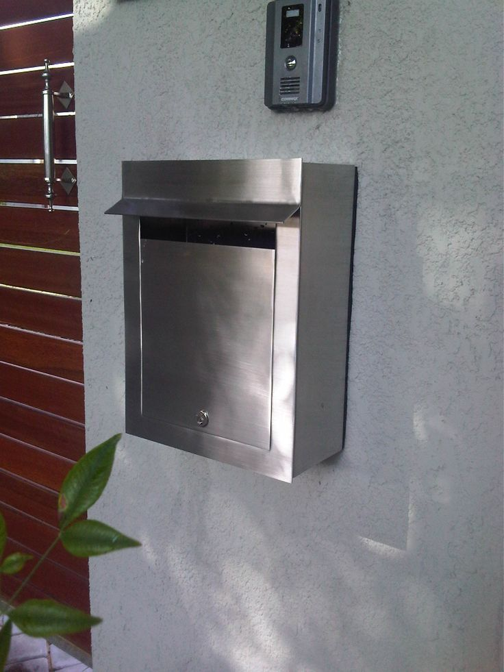 External Portrait Stainless Steel Letterbox with a blank door. Grade 304 stainless steel with a brushed finish.