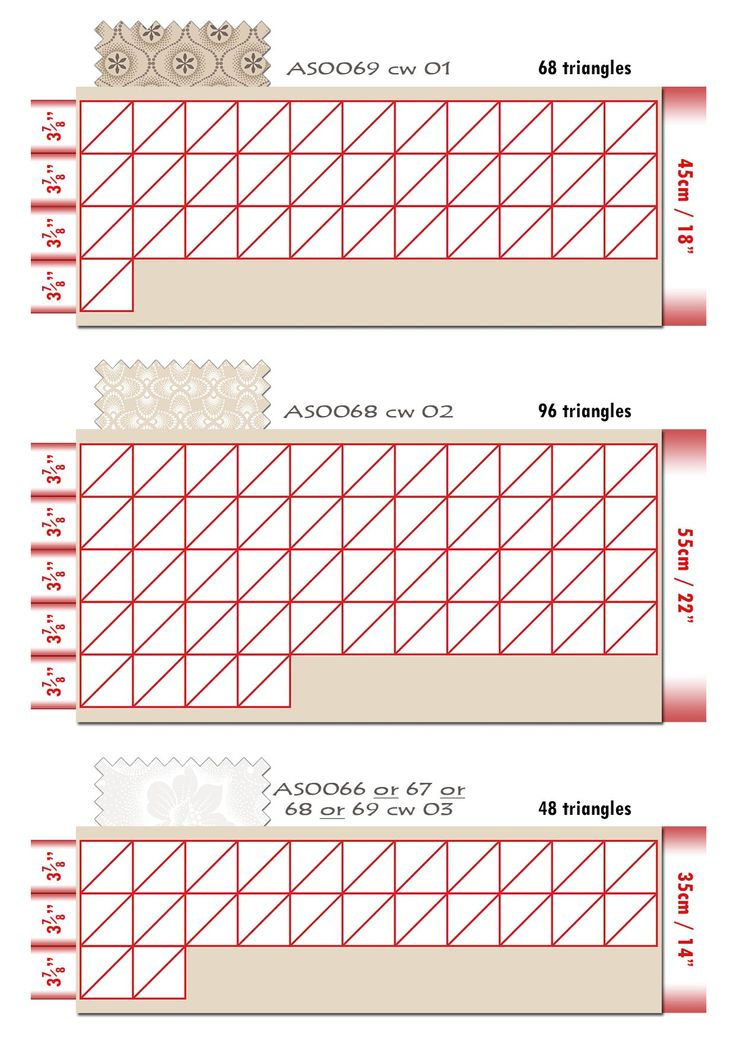 Iced Tea Collection Quilt cutting layout 2