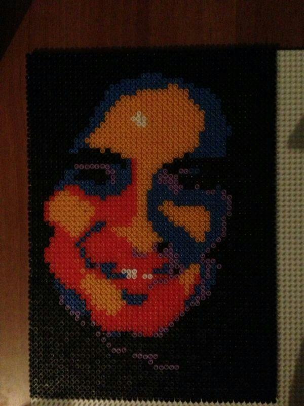 Il mio primo ritratto hama beads (pyssla)