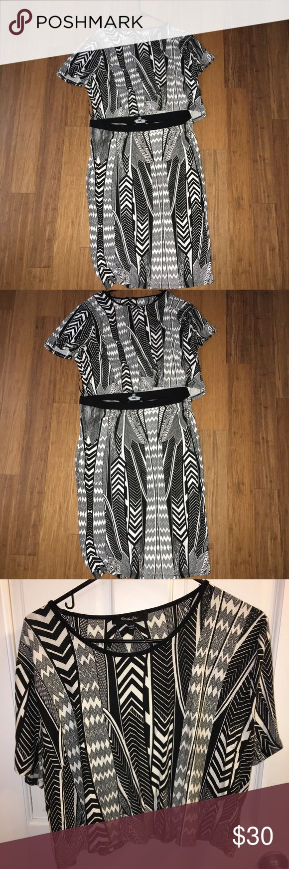 Plus size tribal print skirt set SZ 18 Plus size Simply Be tribal print skirt set. Top is cropped, but flowy rather than fitted. Pair with a bold necklace and some cute sandals for a casual yet cute look! Gently used!  Size 18 Simply Be Skirts Midi