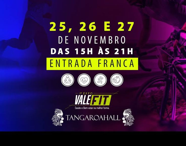 Viva seu estilo de vida na melhor forma! #ValeFit Tangaroa Hall