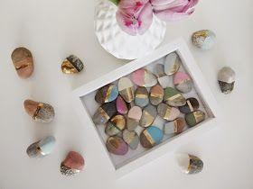 basteln malen kuchen backen: Kreidefarbe selber herstellen / bemalte Steine