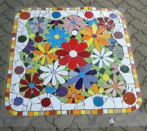 tampo de mesa em mosaico - Pesquisa Google