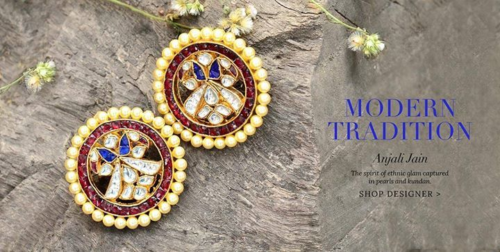Modern Tradition: The spirit of ethnic glam captured in pearls and kundan.