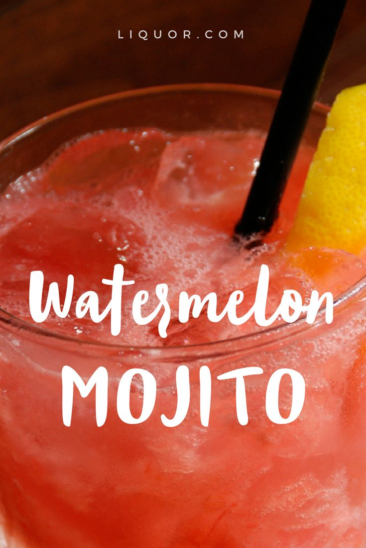 This modern classic twist on the #mojito will be your new favorite #cocktail. Because who doesn't love #watermelon and mojitos?