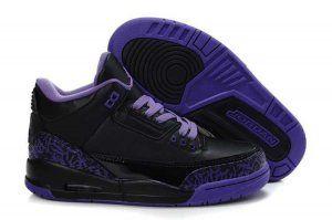 Authentiek Air Jordan 3 Retro Dames basketbal schoenen zwart paars [AIRJORDAN#0770] - €56.40 : Goedkoop Nike Nederland - Nike Air Max|Nike F...