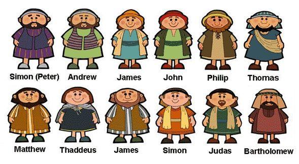 Bible 12 Disciples Set 5 The Twelve Clipart - Free Clip Art Images