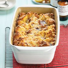 Panettone Bread Pudding with Lemon Filling Recipe | King Arthur Flour