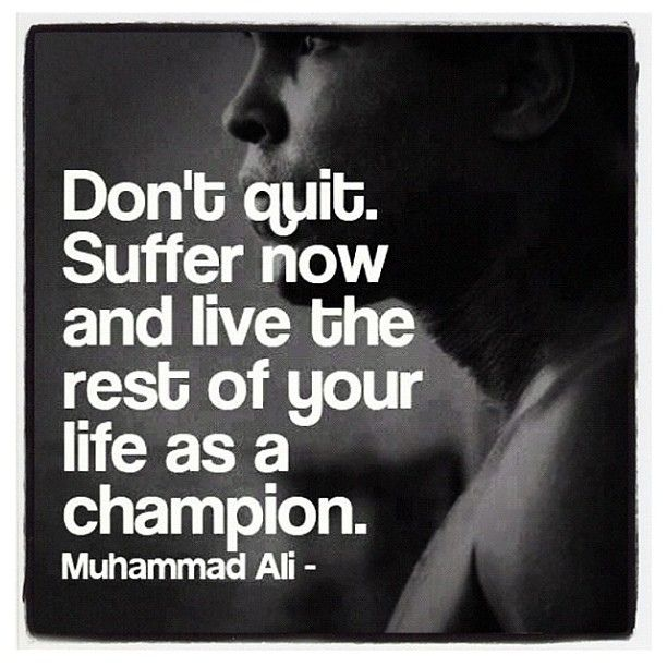 Great quote by the boxing legend Muhammad Ali!     Visit  http://okbehealthy.com