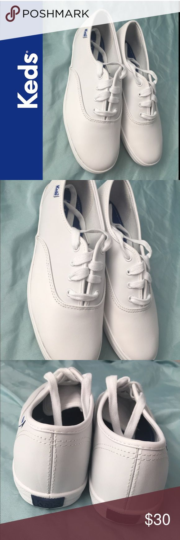 NEW!! 🌼❤KEDS Champion CVO White Leather ❤🌼 🔥New Champion CVO White Leather Shoes. Big Kids Girls size 4.5W🔥 Keds Shoes Sneakers
