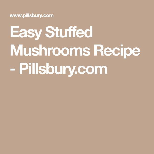 Easy Stuffed Mushrooms Recipe - Pillsbury.com