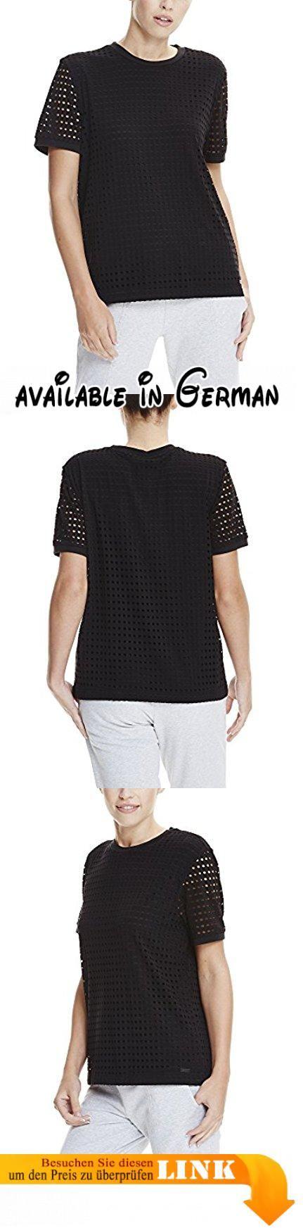 Bench Damen T-Shirt Double Layer Mesh Tee Schwarz (Black Beauty BK11179), 40 (Herstellergröße: L). Schönes Bench T-Shirt. Details: Meliertes Bench T-Shirt mit Rundhalsauschnitt und abgerundeten Saumkanten. #Apparel #SHIRT
