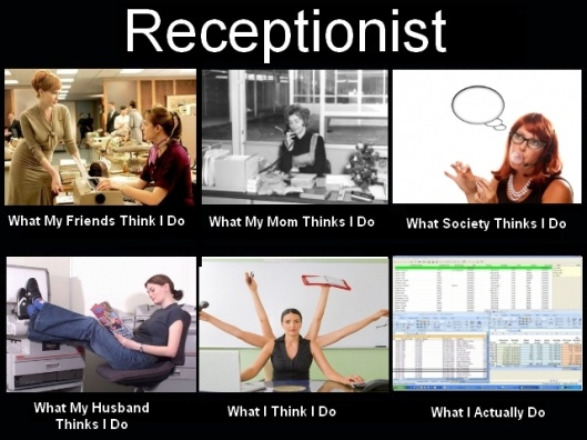 receptionist 'what I do' #lol