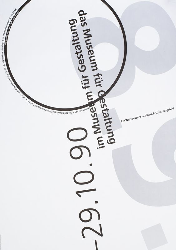 29.10.90 im Museum fur Gestaltung by Widmer, Jean | Vintage Posters at International Poster Gallery