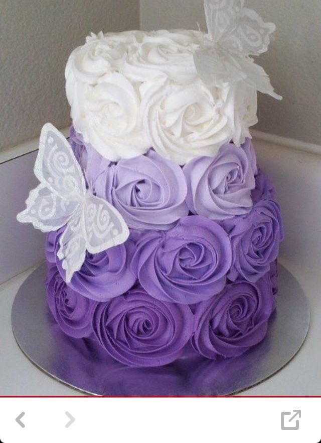 Best 25 Purple Birthday Cakes Ideas On Pinterest