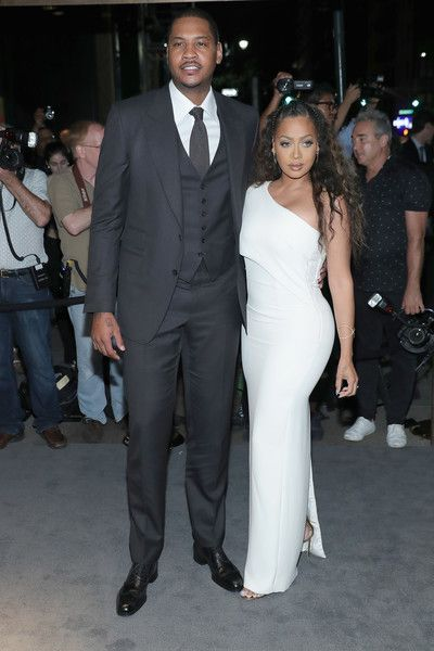 La La Anthony One Shoulder Dress - La La Anthony sizzled in a curve-flaunting white one-shoulder gown by Tom Ford during the label's fashion show.